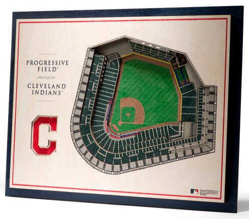Cleveland Indians 5-Layer StadiumViews 3D Wall Art