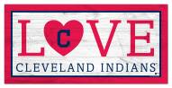 """Cleveland Indians 6"""" x 12"""" Love Sign"""