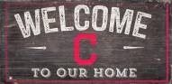 """Cleveland Indians 6"""" x 12"""" Welcome Sign"""