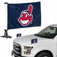 Cleveland Indians Ambassador Hood & Trunk Car Flag