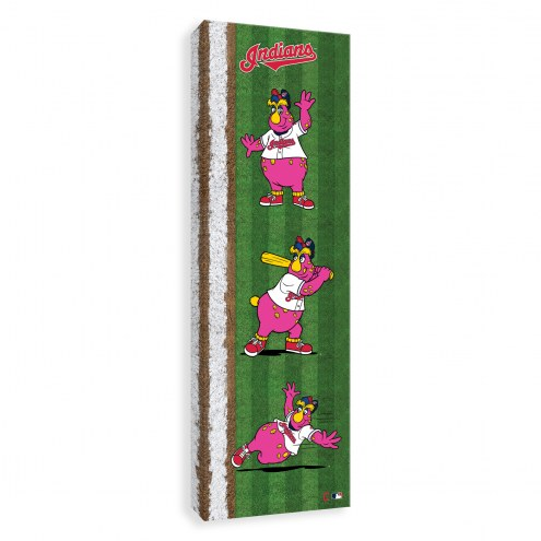 Cleveland Indians Mascot Poses Printed Canvas