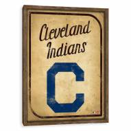 Cleveland Indians Vintage Card Recessed Box Wall Decor