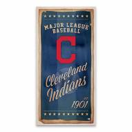 Cleveland Indians Watercolor Printed Canvas