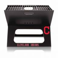 Cleveland Indians Black Portable Charcoal X-Grill