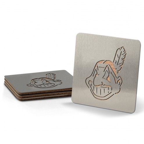 Cleveland Indians Boasters Stainless Steel Coasters - Set of 4