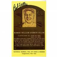Cleveland Indians Bob Feller Signed Hall of Fame Plaque Card