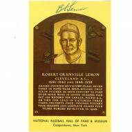 Cleveland Indians Bob Lemon Signed Hall of Fame Plaque Card