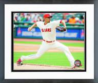 Cleveland Indians Carlos Carrasco Action Framed Photo
