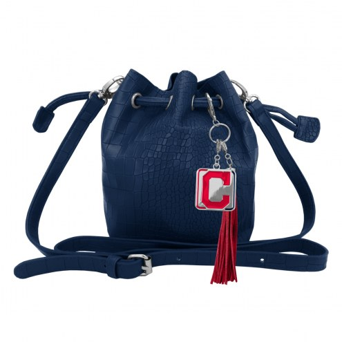 Cleveland Indians Charming Mini Bucket Bag
