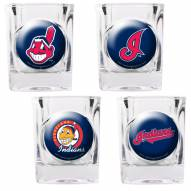 Cleveland Indians Collector's Shot Glass Set