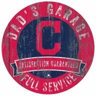 Cleveland Indians Dad's Garage Sign