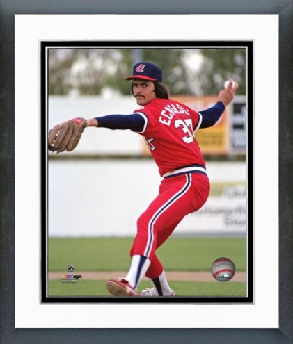 Cleveland Indians Dennis Eckersley Action Framed Photo