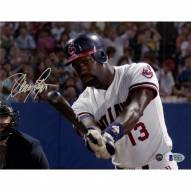 Cleveland Indians Dennis Haysbert Signed 8 x 10 Major League Photo Batting