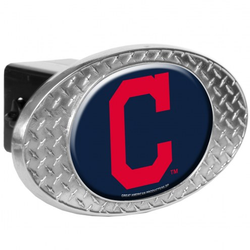 Cleveland Indians Metal Diamond Plate Trailer Hitch Cover