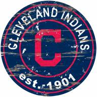 Cleveland Indians Distressed Round Sign