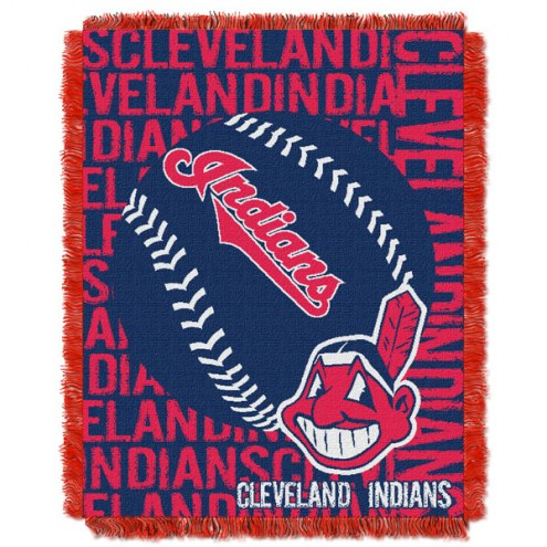 Cleveland Indians Double Play Jacquard Throw Blanket