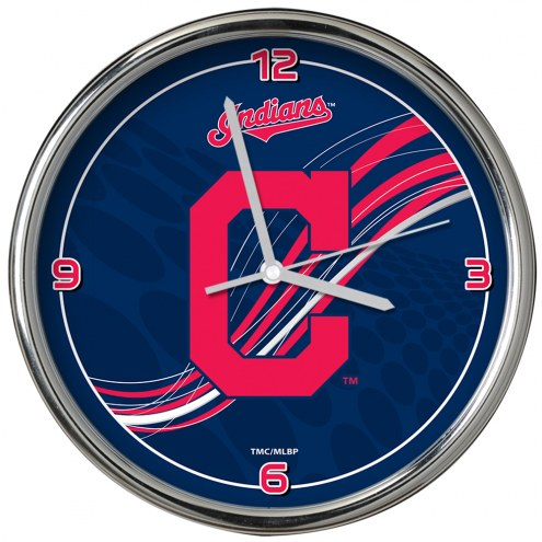 Cleveland Indians Dynamic Chrome Clock