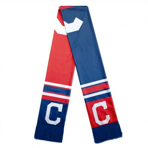 Cleveland Indians Colorblock Big Logo Scarf