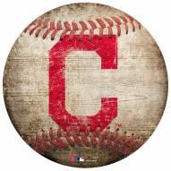 Cleveland Indians Baseball Shaped Sign