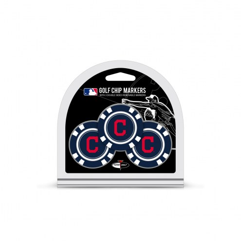 Cleveland Indians Golf Chip Ball Markers