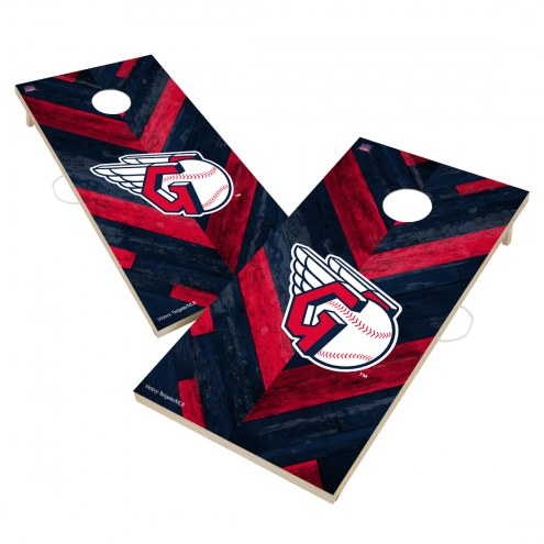 Cleveland Indians Herringbone Cornhole Game Set