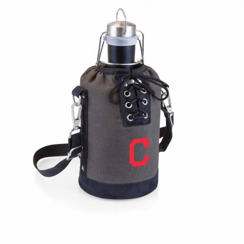 Cleveland Indians Insulated Growler Tote with 64 oz. Stainless Steel Growler