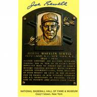 Cleveland Indians Joe Sewell Signed Hall of Fame Plaque Card