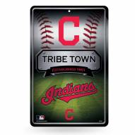 Cleveland Indians Large Embossed Metal Wall Sign