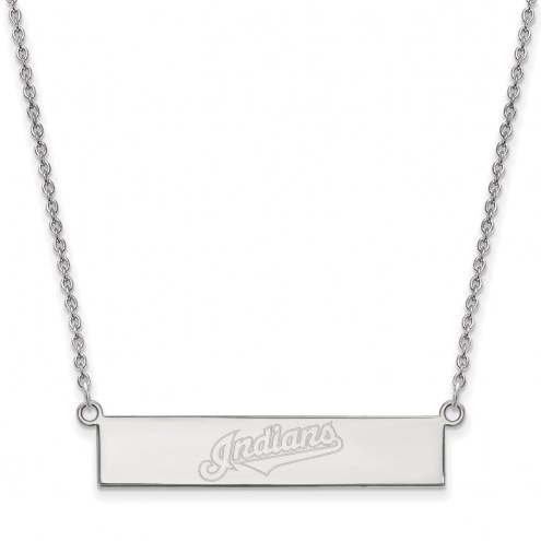 Cleveland Indians Sterling Silver Bar Necklace