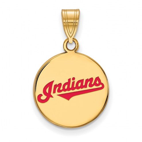 Cleveland Indians Sterling Silver Gold Plated Medium Pendant