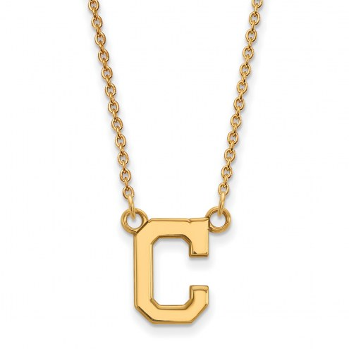 Cleveland Indians Sterling Silver Gold Plated Small Pendant Necklace