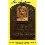 Cleveland Indians Lou Boudreau Signed Hall of Fame Plaque Postcard
