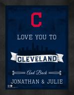 Cleveland Indians Love You to and Back Framed Print