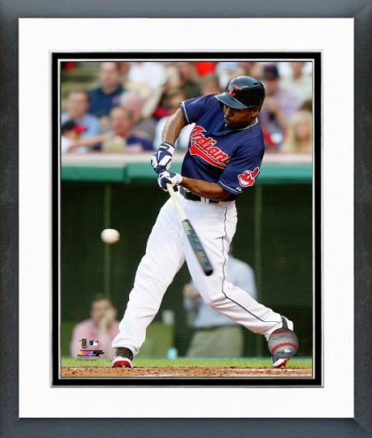 Cleveland Indians Michael Bourn Action Framed Photo