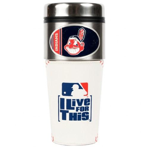 Cleveland Indians MLB 16 oz. Baseball Travel Tumbler