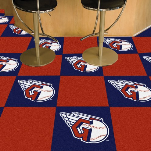 Cleveland Indians MLB Team Carpet Tiles