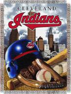 Cleveland Indians MLB Woven Tapestry Throw Blanket