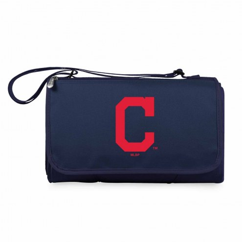 Cleveland Indians Navy Blanket Tote