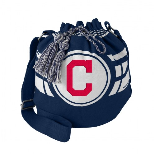 Cleveland Indians Navy Ripple Drawstring Bucket Bag