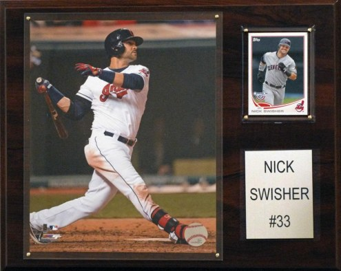 """Cleveland Indians Nick Swisher 12"""" x 15"""" Player Plaque"""