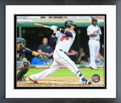 Cleveland Indians Nick Swisher Action Framed Photo