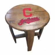 Cleveland Indians Oak Barrel Table