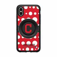 Cleveland Indians OtterBox Symmetry Polka Dot PopSocket iPhone Case