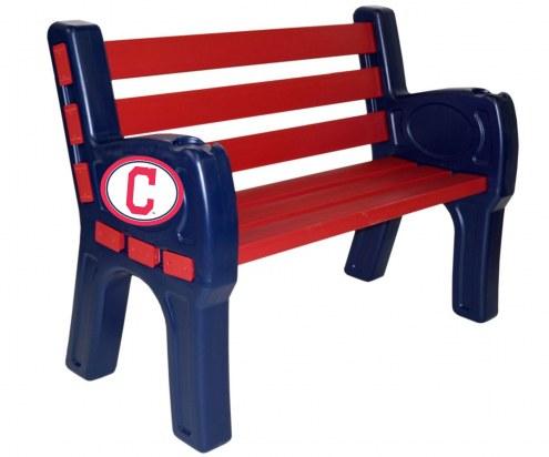 Cleveland Indians Park Bench