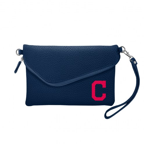 Cleveland Indians Pebble Fold Over Purse