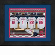 Cleveland Indians Personalized Locker Room 13 x 16 Framed Photograph