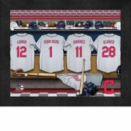 Cleveland Indians Personalized Locker Room 11 x 14 Framed Photograph