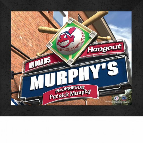 Cleveland Indians Personalized Framed Sports Pub Print
