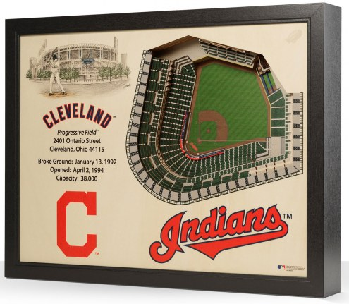 Cleveland Indians 25-Layer StadiumViews 3D Wall Art