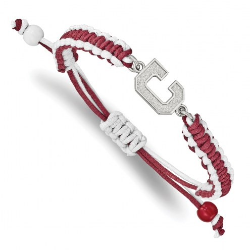 Cleveland Indians Stainless Steel Adjustable Cord Bracelet